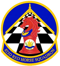 Red horse squadron logo