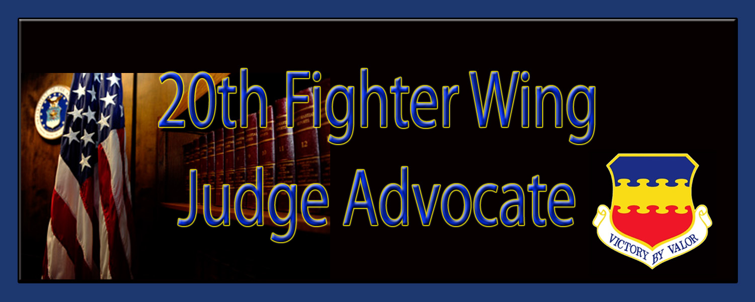 20th Figther Wing Judge Advocate
